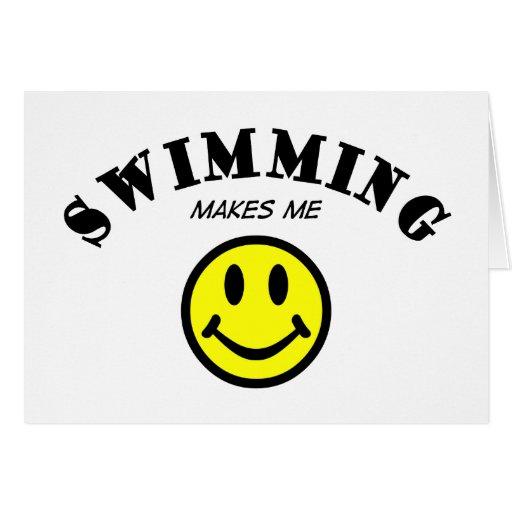 MMS: El nadar Tarjeta De Felicitación