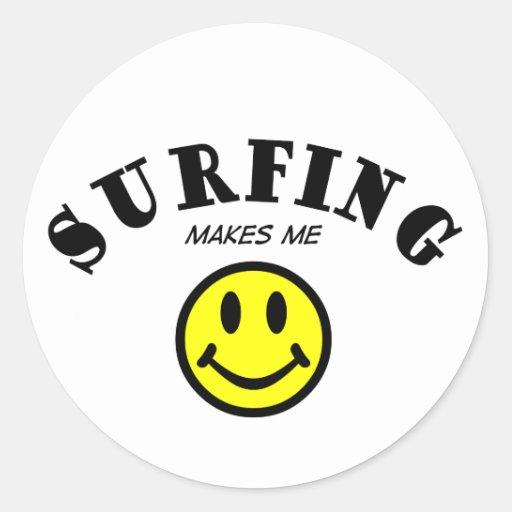 MMS: El practicar surf Pegatina Redonda