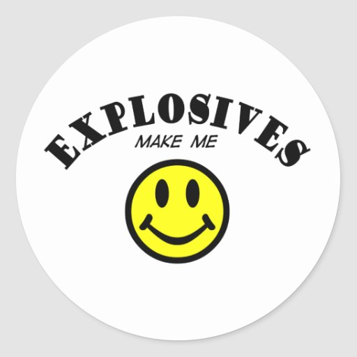 MMS: Explosives Classic Round Sticker
