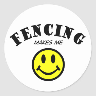 MMS: Fencing Classic Round Sticker