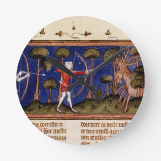 MMS Fr 12399 f.38 Hunting Scene, from the Book of Round Clock