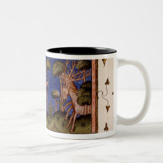 MMS Fr 12399 f.38 Hunting Scene, from the Book of Two-Tone Coffee Mug