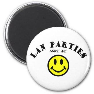 MMS: Lan Parties 2 Inch Round Magnet