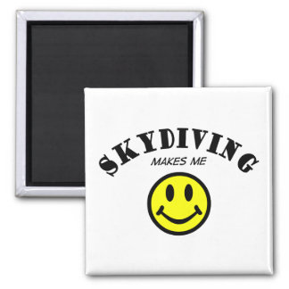 MMS: Skydiving 2 Inch Square Magnet