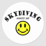 MMS: Skydiving Etiquetas Redondas