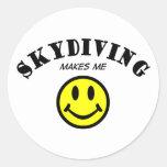 MMS: Skydiving Pegatina Redonda