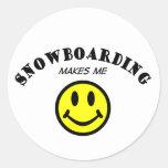 MMS: Snowboard Etiqueta Redonda
