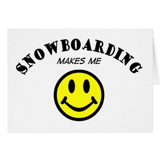 MMS: Snowboard Tarjeta De Felicitación