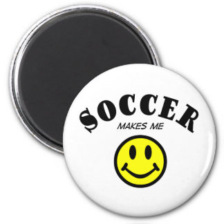 MMS: Soccer 2 Inch Round Magnet