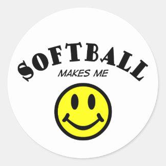 MMS: Softball Classic Round Sticker