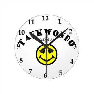MMS: Taekwondo Round Wallclocks