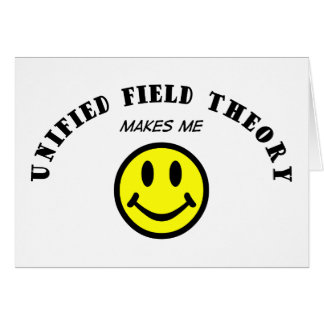 MMS: Teoría de campo unificado Tarjeta De Felicitación