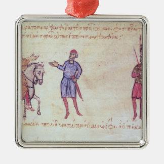MMS Vitr 26-7 el ejército bizantino que pone al vu Ornamento Para Arbol De Navidad