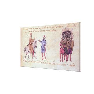 MMS Vitr 26-7 el ejército bizantino que pone al vu Lienzo Envuelto Para Galerias