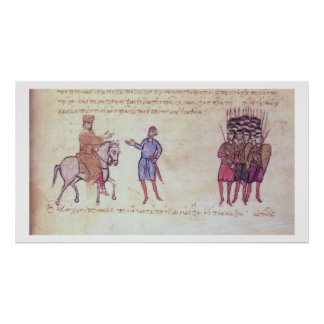 MMS Vitr 26-7 el ejército bizantino que pone al vu Póster