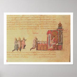 MMS Vitr 26-7 el emperador bizantino Romanus III A Póster