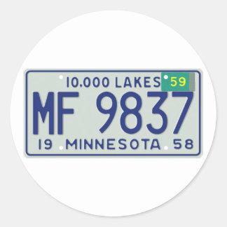MN59 CLASSIC ROUND STICKER