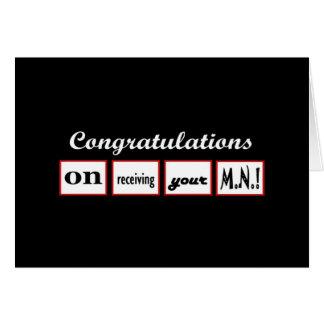 MN Degree - CUSTOM NAME Congratulations - Card