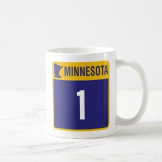 MN Highway 1 Sign Coffee Mug Cup