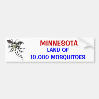 MN Land of 10,000 Bumper Sticker