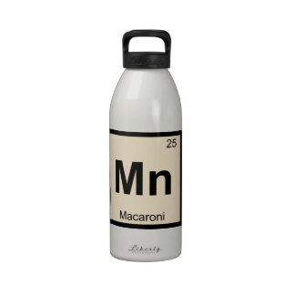 Mn - Macaroni Chemistry Periodic Table Symbol Drinking Bottles