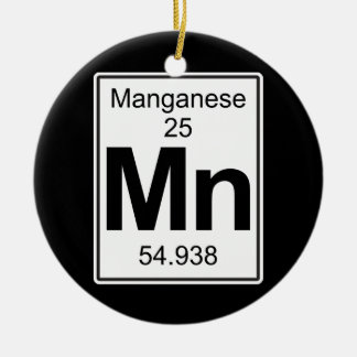 Mn - Manganese Ceramic Ornament