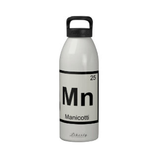 Mn - Manicotti Chemistry Periodic Table Symbol Water Bottle