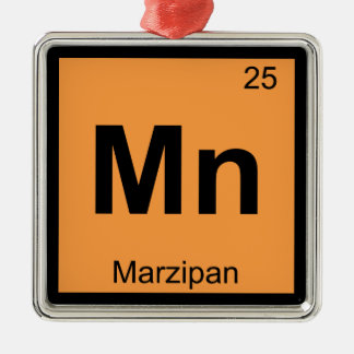 Mn - Marzipan Chemistry Periodic Table Symbol Christmas Tree Ornament
