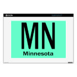 MN Minnesota plain black Decal For Laptop