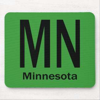 MN Minnesota plain black Mouse Pad