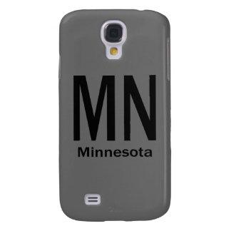 MN Minnesota plain black Samsung Galaxy S4 Case