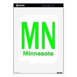 MN Minnesota plain green Decal For The iPad 2