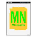MN Minnesota plain green Decals For iPad 3
