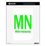 MN Minnesota plain green Decals For The NOOK Color
