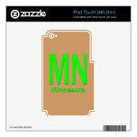 MN Minnesota plain green iPod Touch 4G Decal