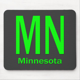 MN Minnesota plain green Mouse Pad