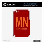 MN Minnesota plain orange iPod Touch 4G Decals