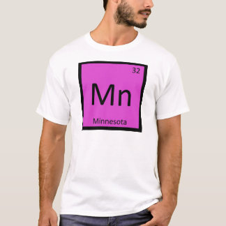 Mn - Minnesota State Chemistry Periodic Table T-Shirt
