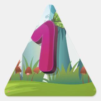 mn_number_01 triangle sticker