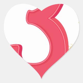 mn_number_03 heart sticker