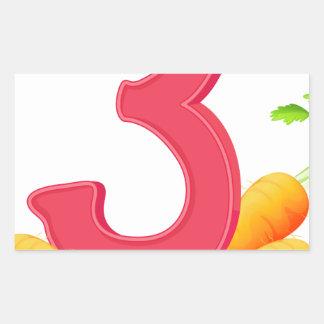 mn_number_03 rectangular sticker