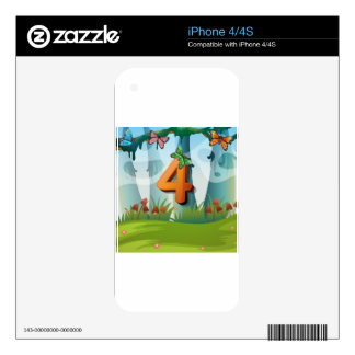 mn_number_04 iPhone 4 skin