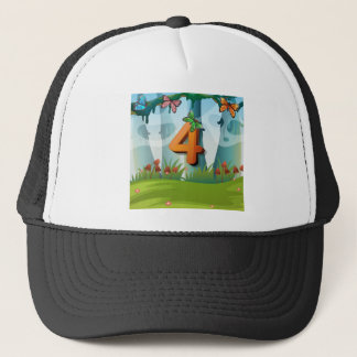 mn_number_04 trucker hat