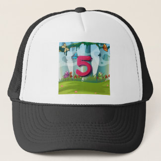 mn_number_05 trucker hat