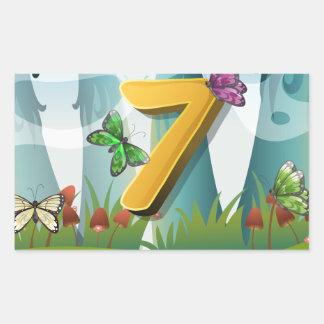 mn_number_07 rectangular sticker