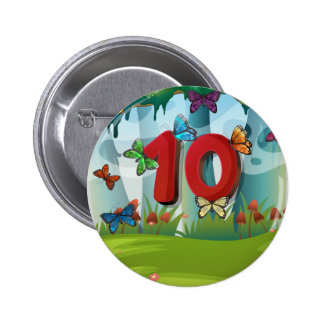 mn_number_10 pin redondo de 2 pulgadas