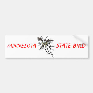 MN State Bird Car Bumper Sticker