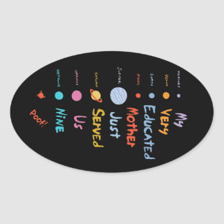 Mnemonic Edited II Oval Sticker