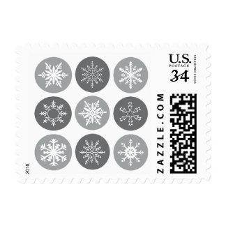 mnodern vintage snowflakes stamp