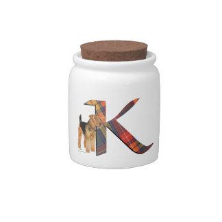 Mnogram K Candy Jar